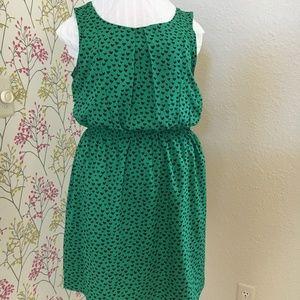 Sleeveless green dress